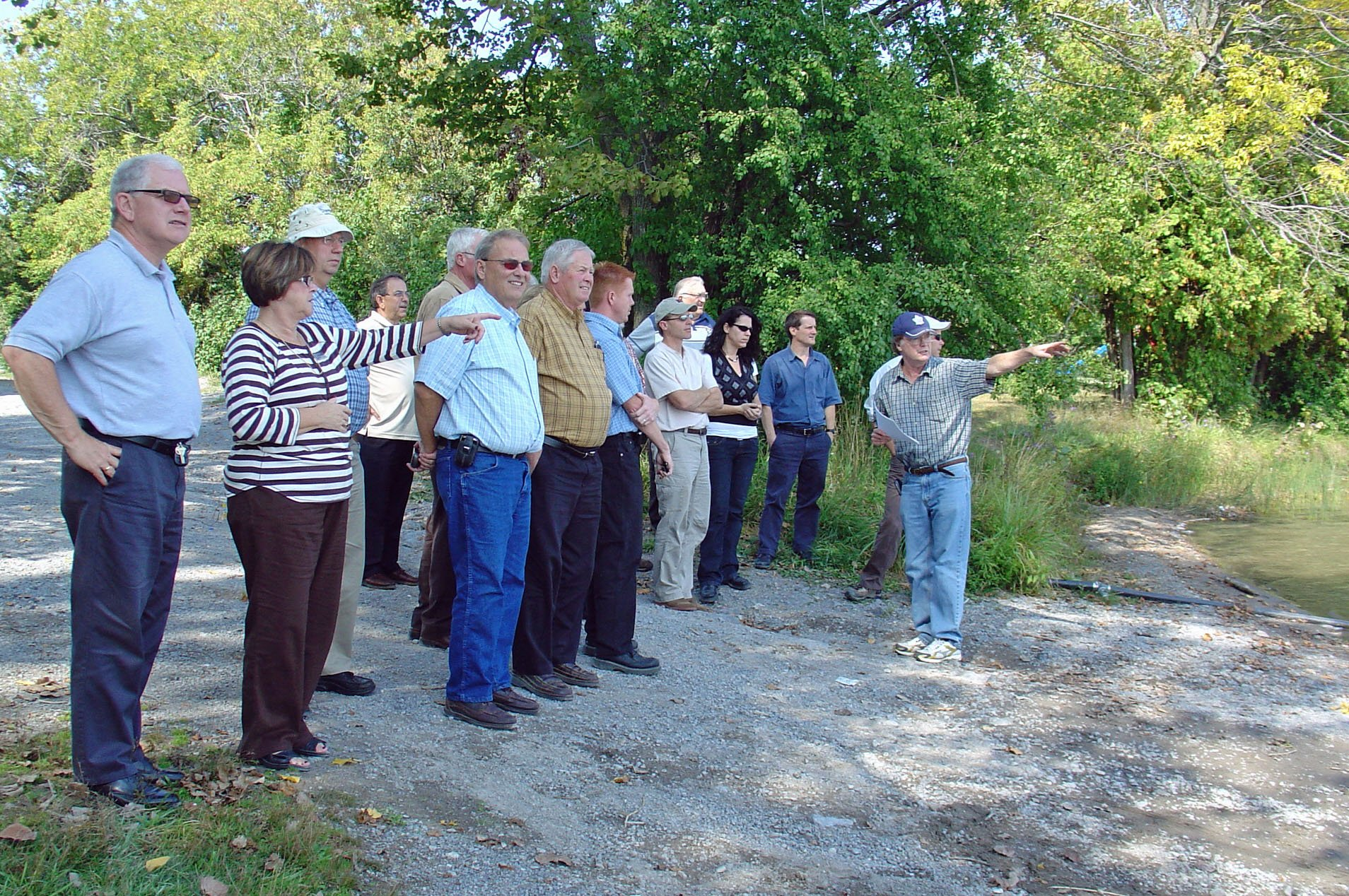 The Quinte Region Source Protection Committee visits Roblin Lake