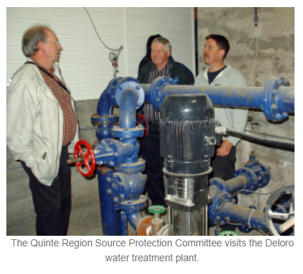 The Quinte Region Source Protection Committee visits the Deloro water treatment plant