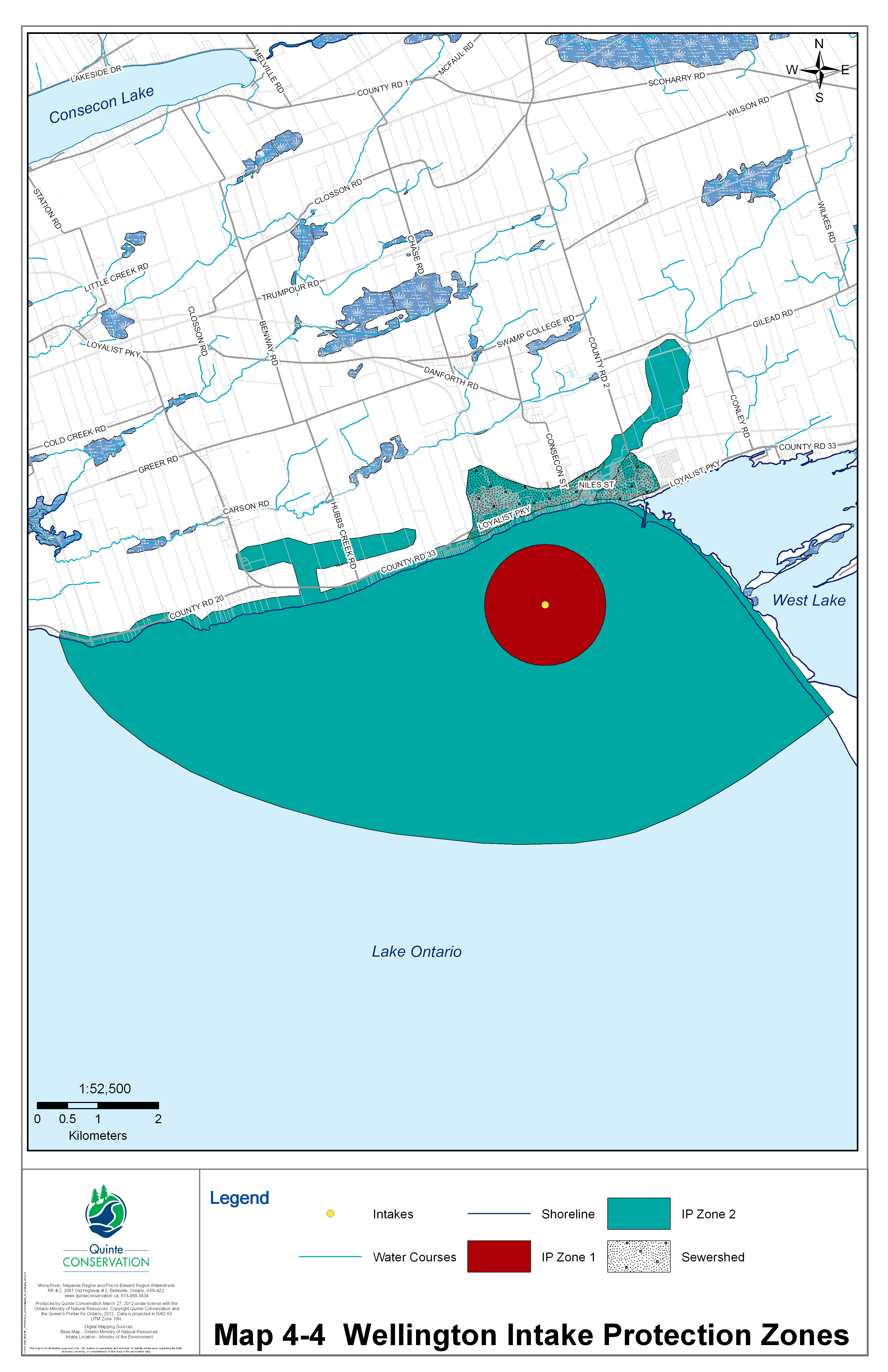 Drinking water systems map for PEC and Wellington